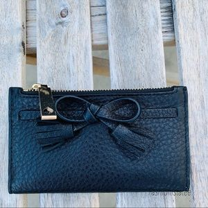 Kate spade small Hayes wallet black leather $109